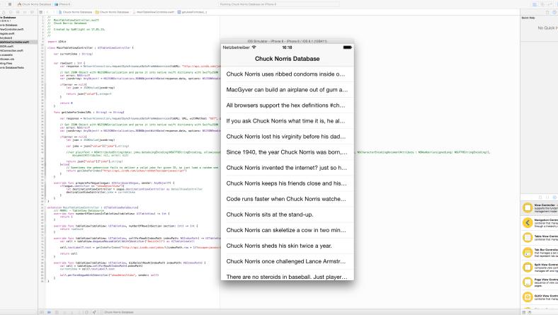 WebService, TableView, Segue & co. – Einstieg in iOS Apps mit Swift Teil 2