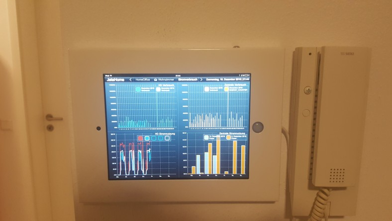 Wall mounted iPad for Home Automation (Symcon)